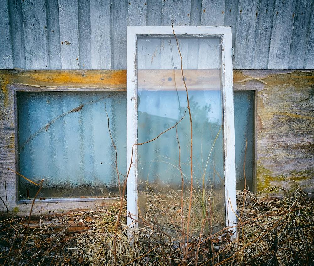 sash window lean on used full-lite door