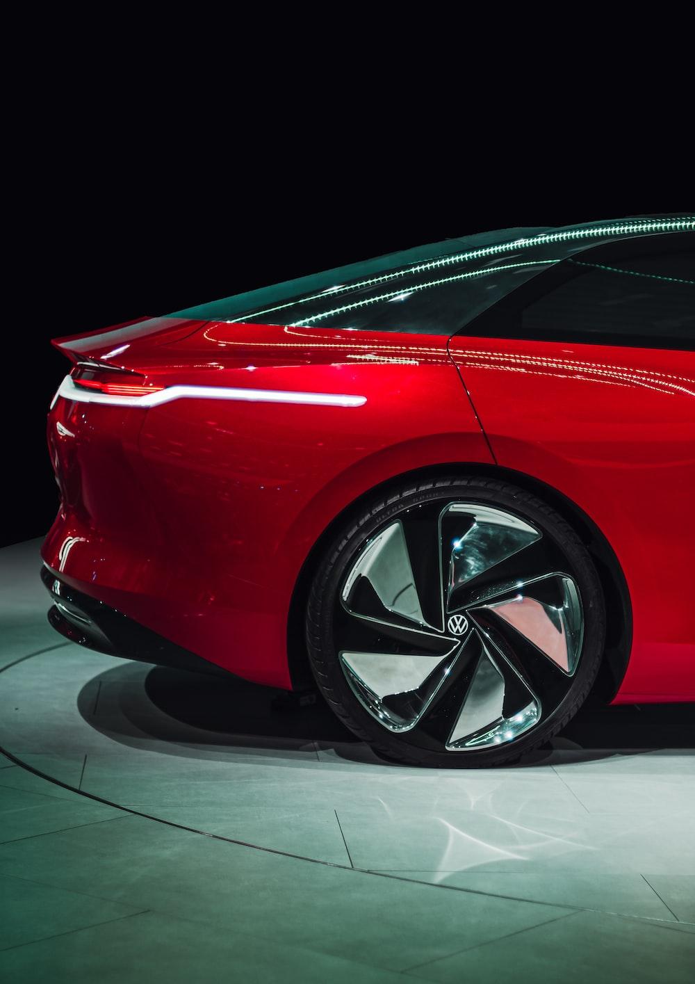 red Volkswagen sedan