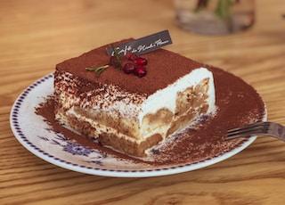 white and brown ceramic cake