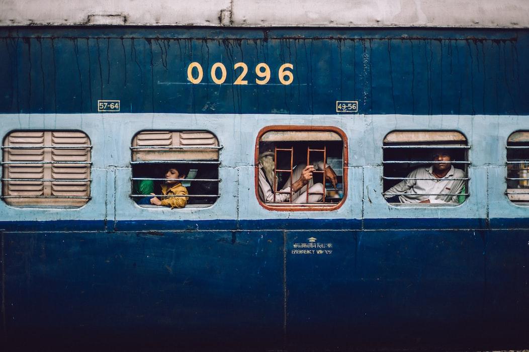 A train in Delhi