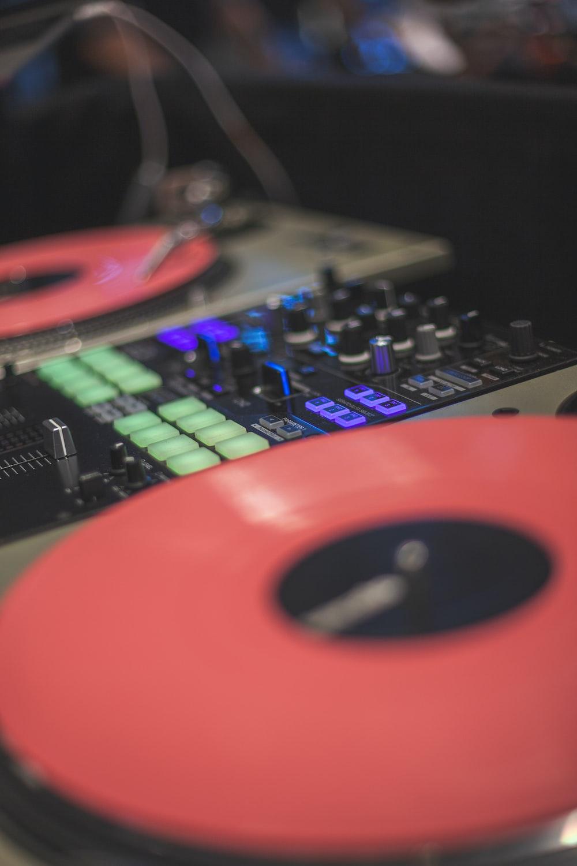 close view of DJ controller