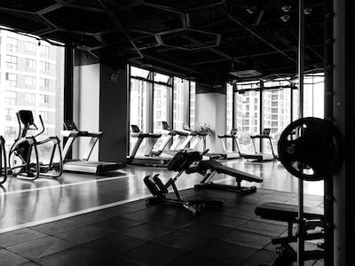 gym equipment inside room