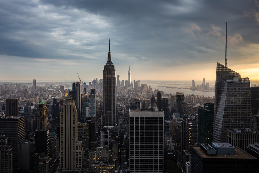 aerial view of New York city at daytime