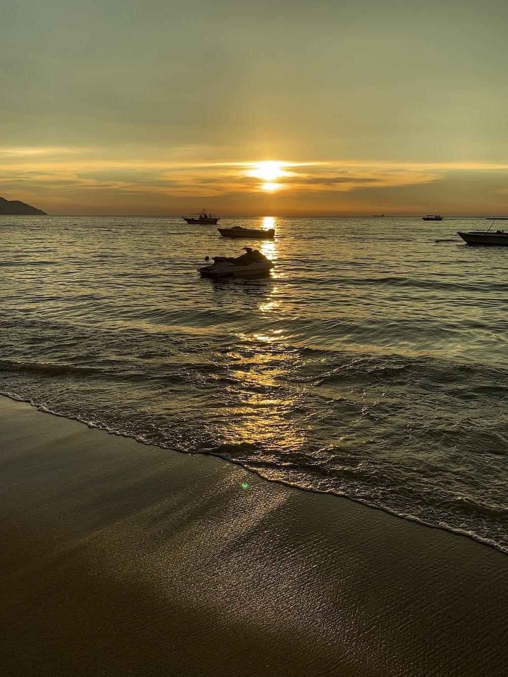 calm ocean at unset