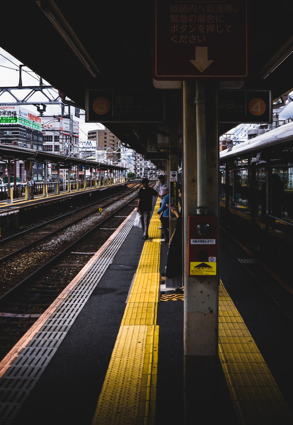 gray and yellow train station