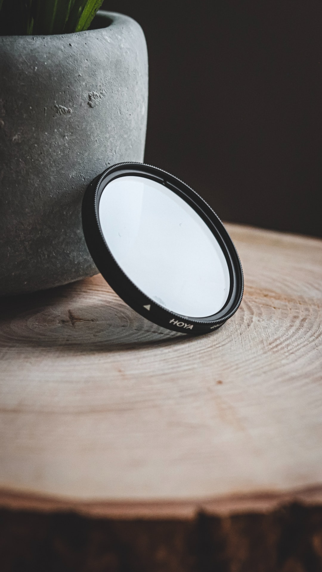 A polariser lens catching the day light.