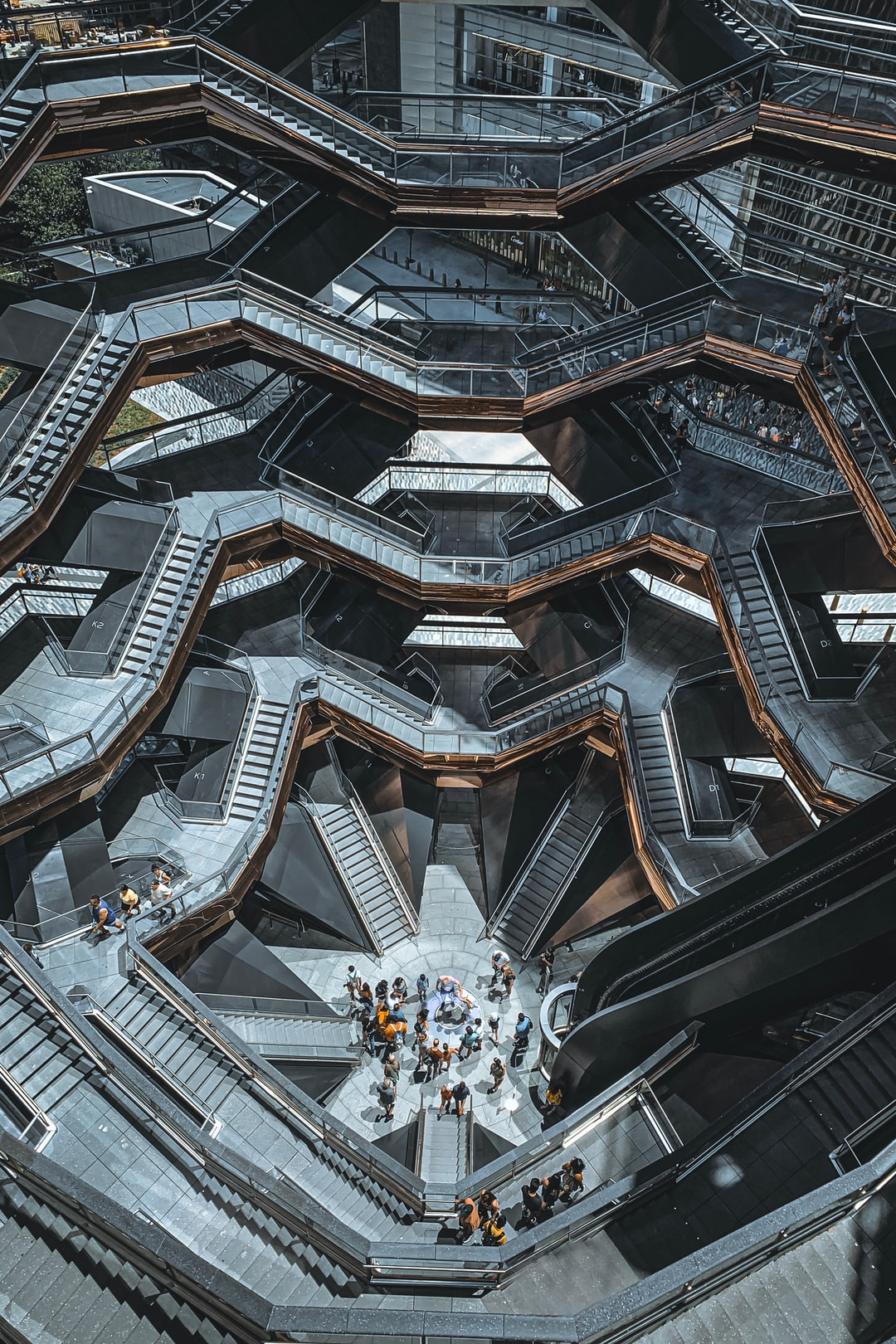 The Vessel (from above) in New York City