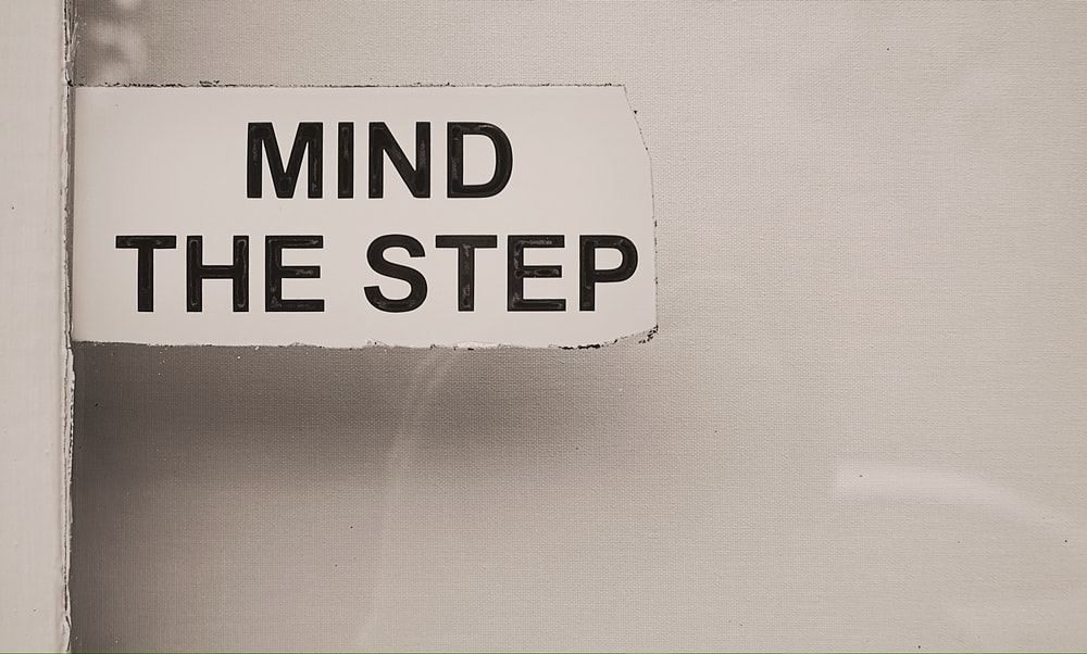 Mind The Step signage