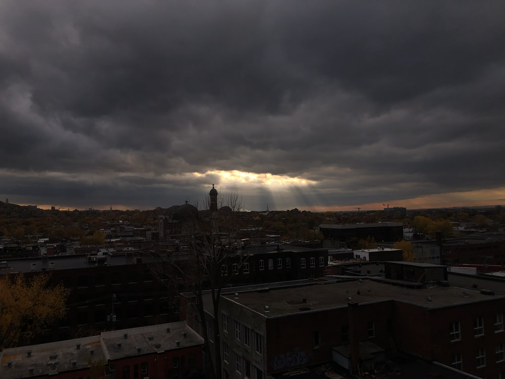 lowlight photo of city