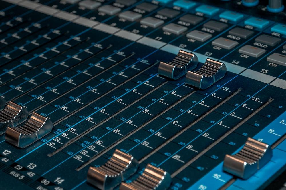 blue audio mixer