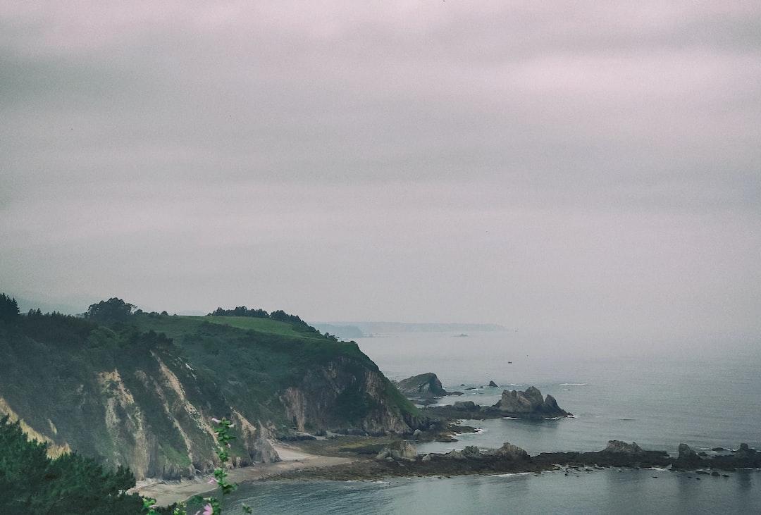 The foggy Cantabrian sea