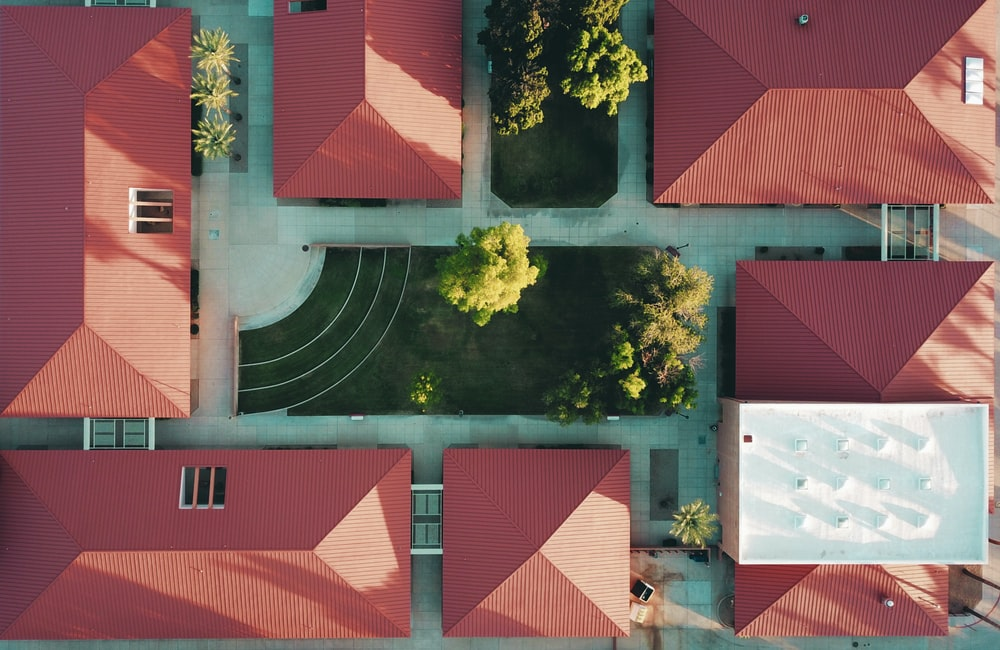 aerial photography of brown houses during daytime