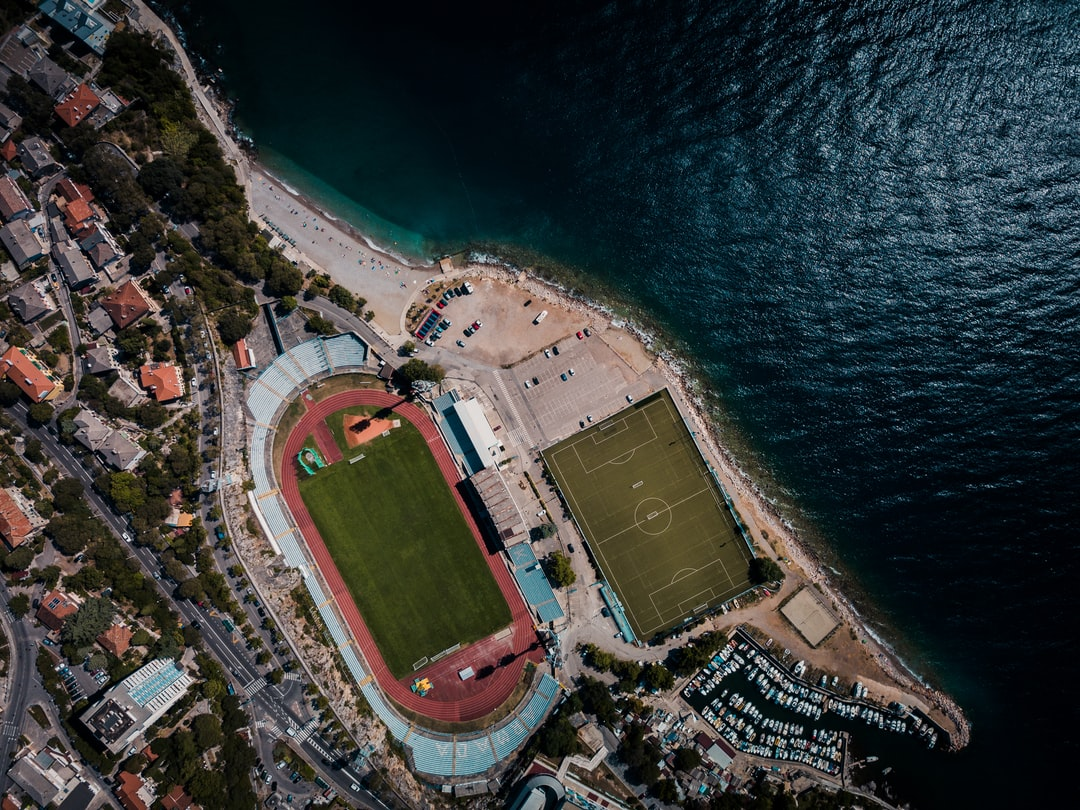 Football Stadium Kantrida From Above - unsplash