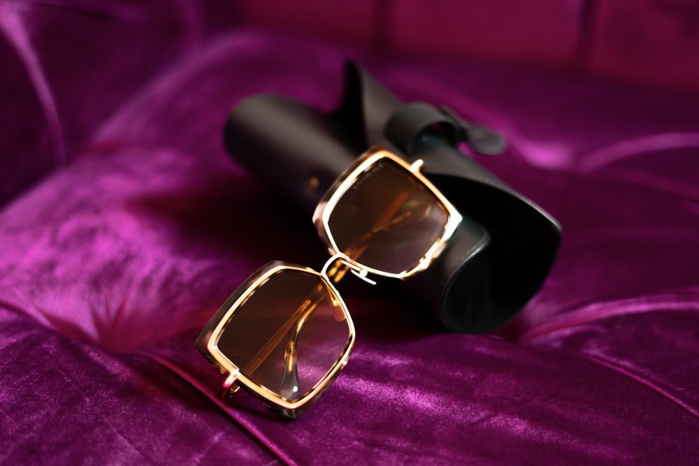 white-framed sunglasses