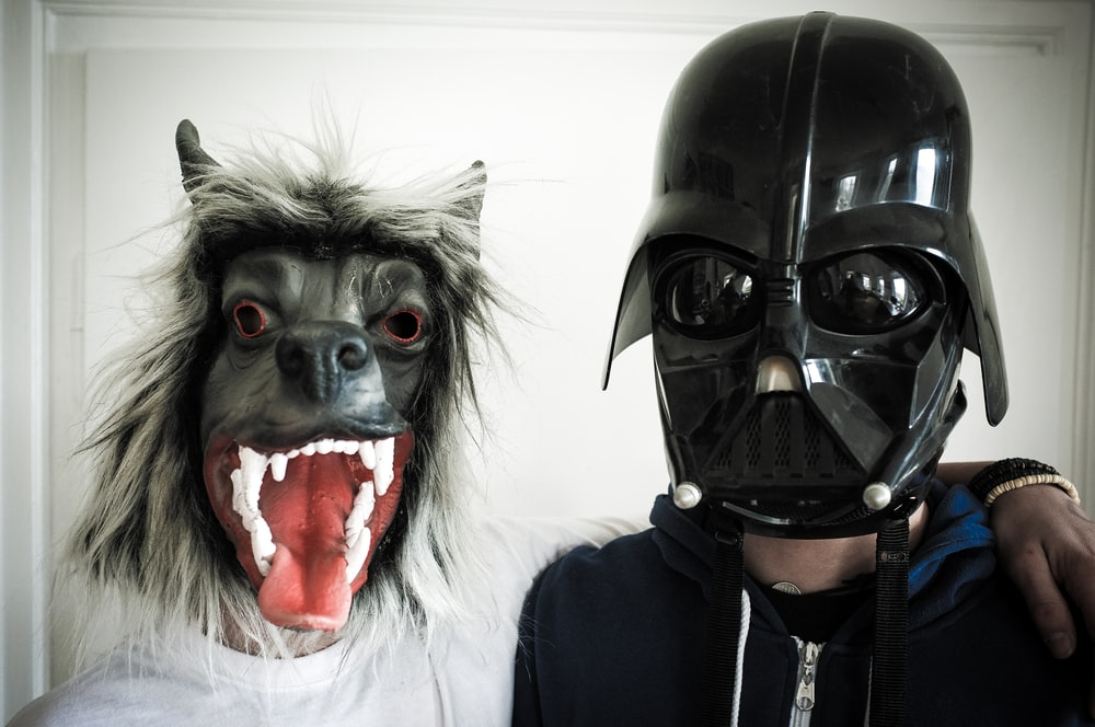black dog mask