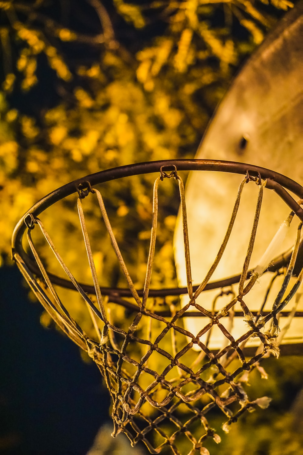 close-up photography of basketball ring