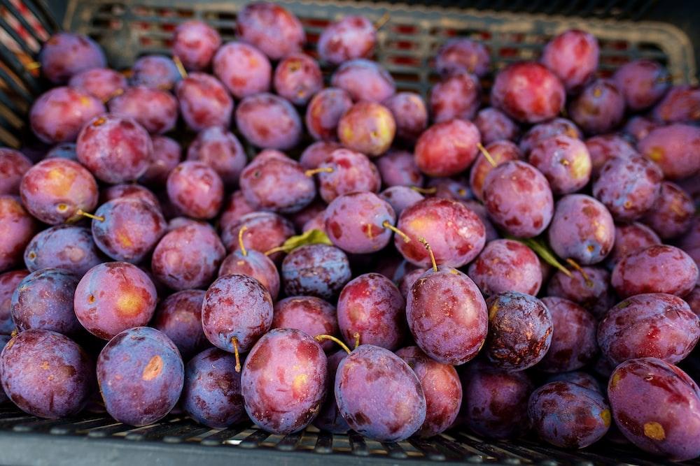 nectarine fruits in basket