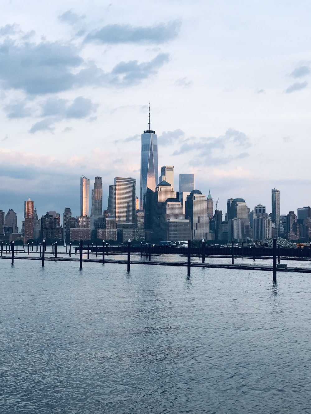 panoramic photo fo cityscape facing body of water