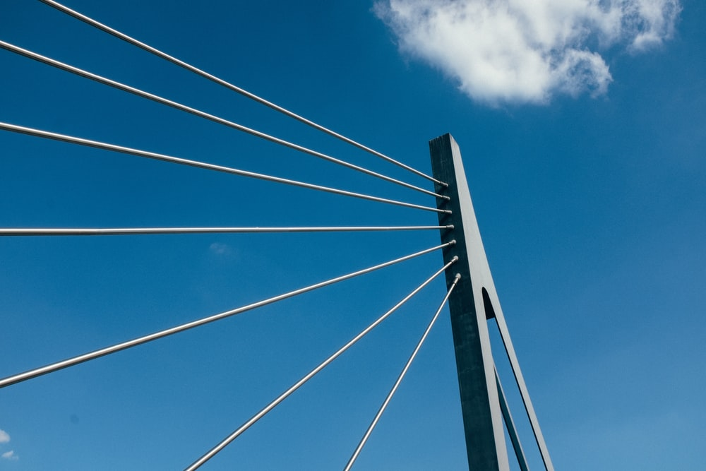 white bridge cable