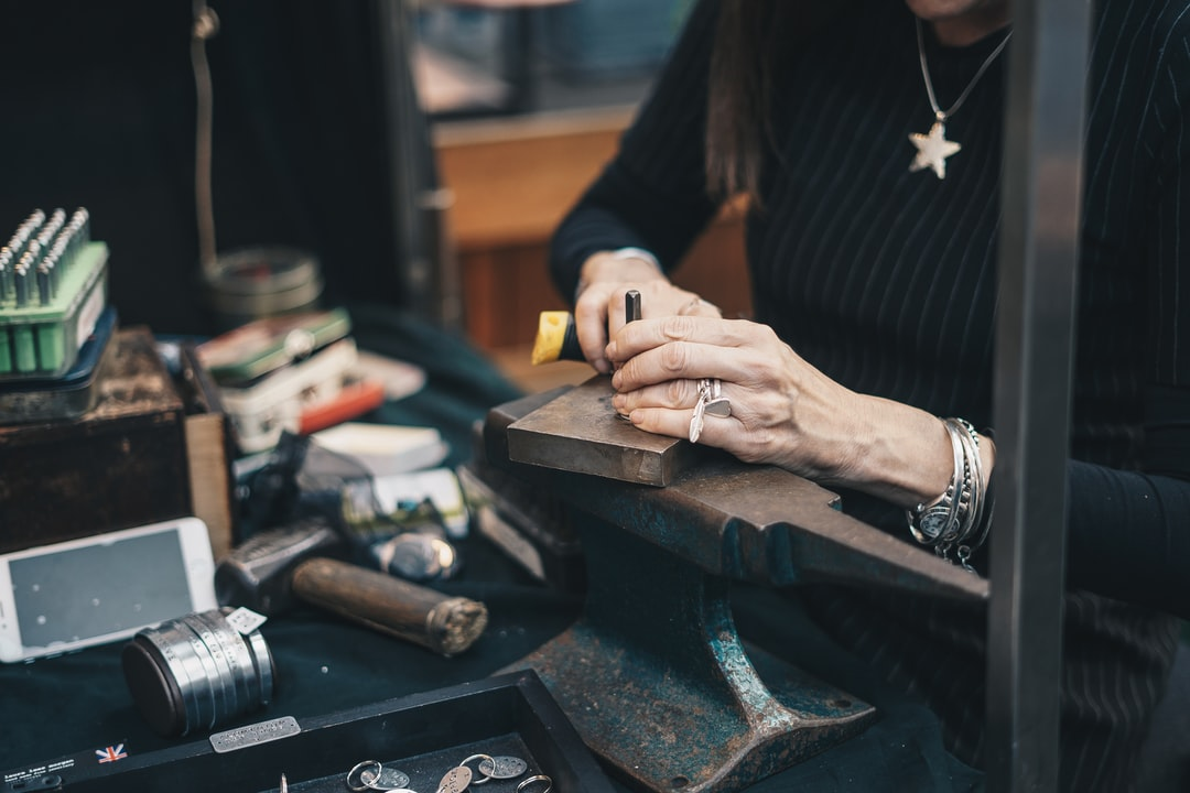Jewellery Maker - Working with hands
