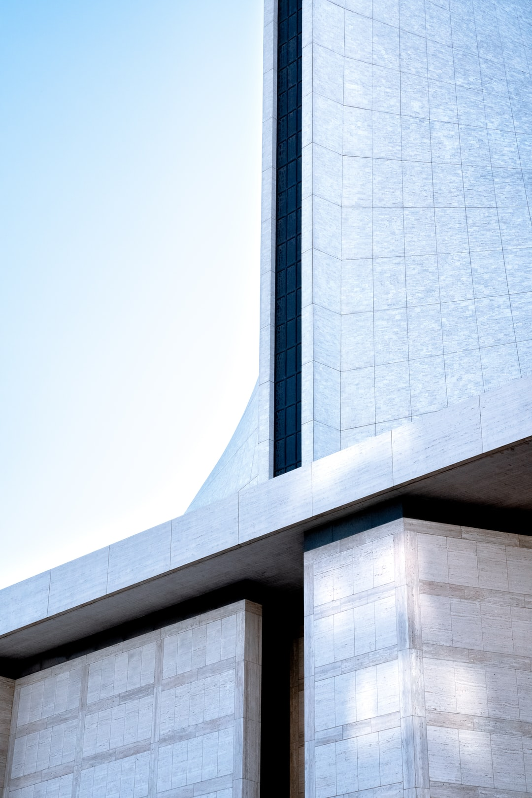 Architectural lines of the Cathedral of Saint Mary of the Assumption in San Francisco.