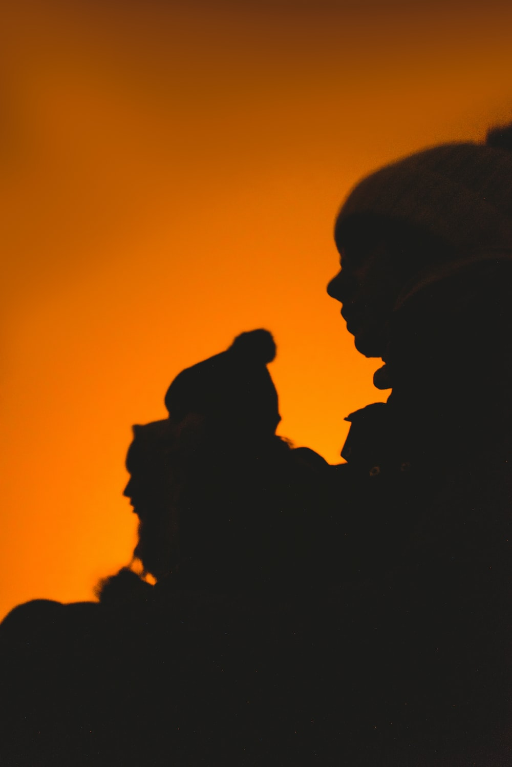 silhouette of childrens