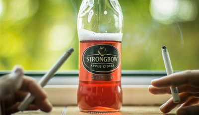 strongbow bottle cider zoom background