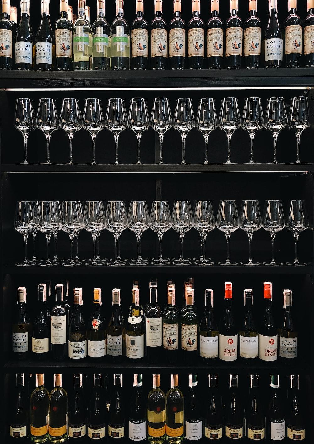 assorted-label wine bottle lot