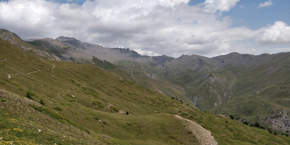 valley under white clouds