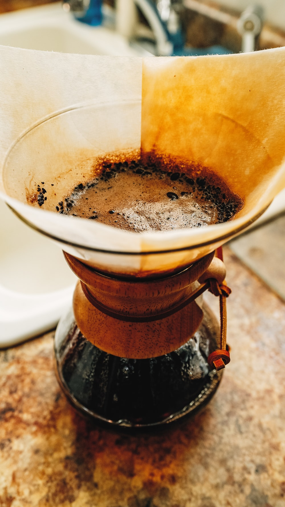 clear glass coffee pot