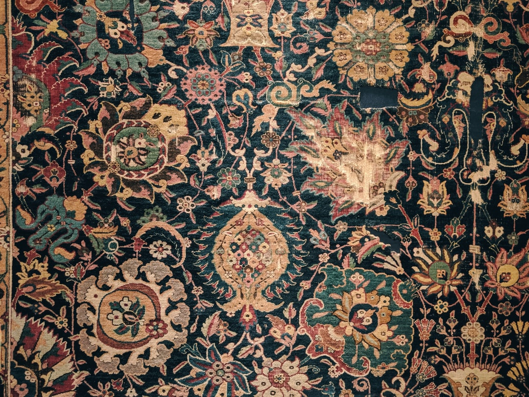 Carpet patterns at the Islamic Art section of Pergamon Museum