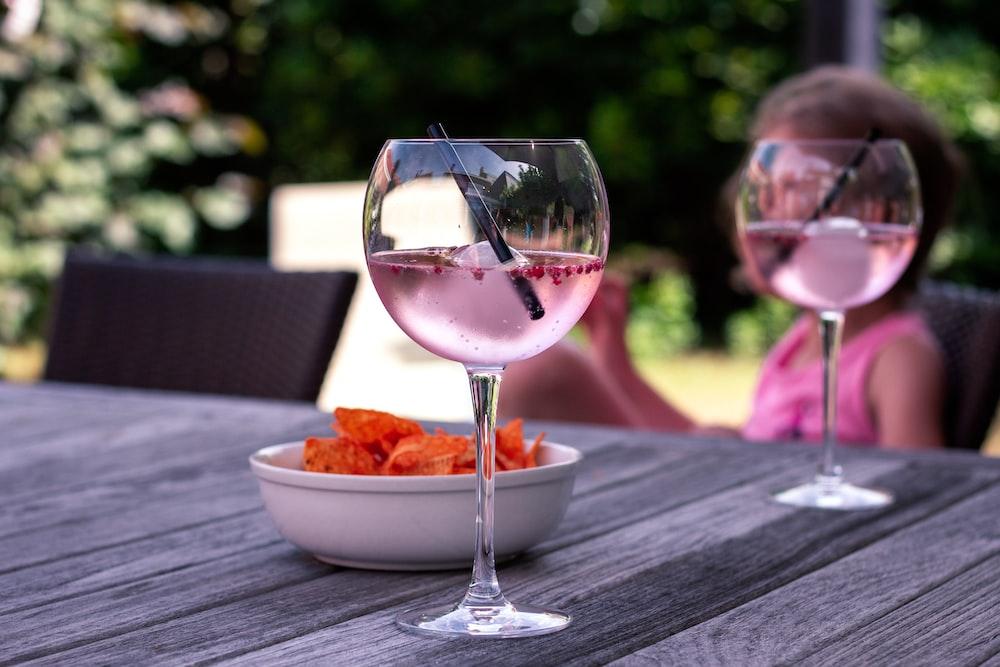 clear long stem wine glass