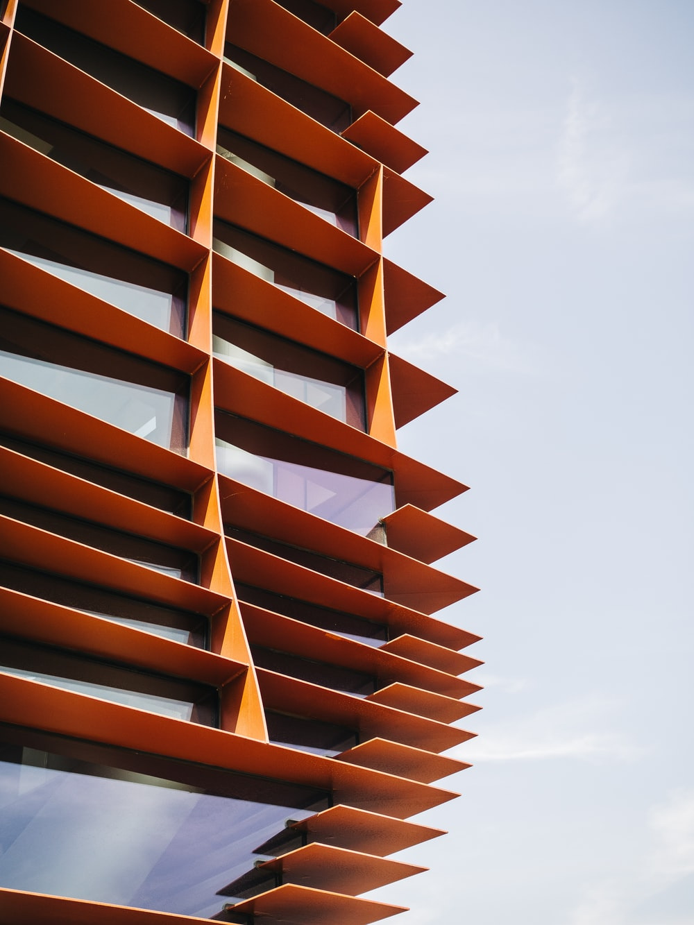 photo of orange painted building