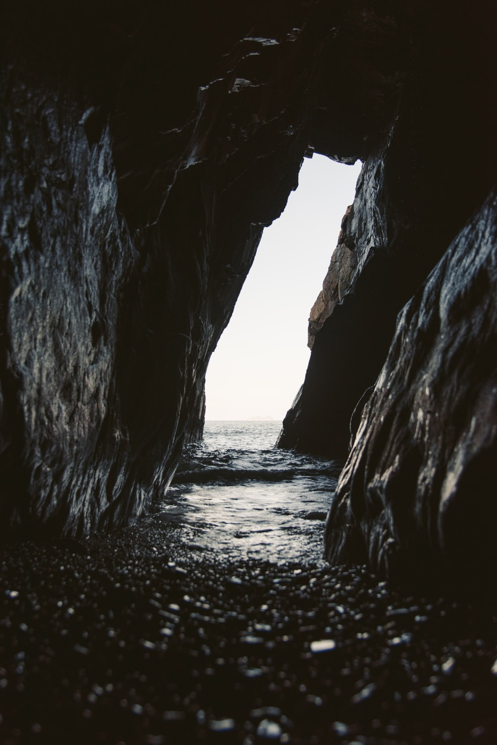 tunnel leading to the beach