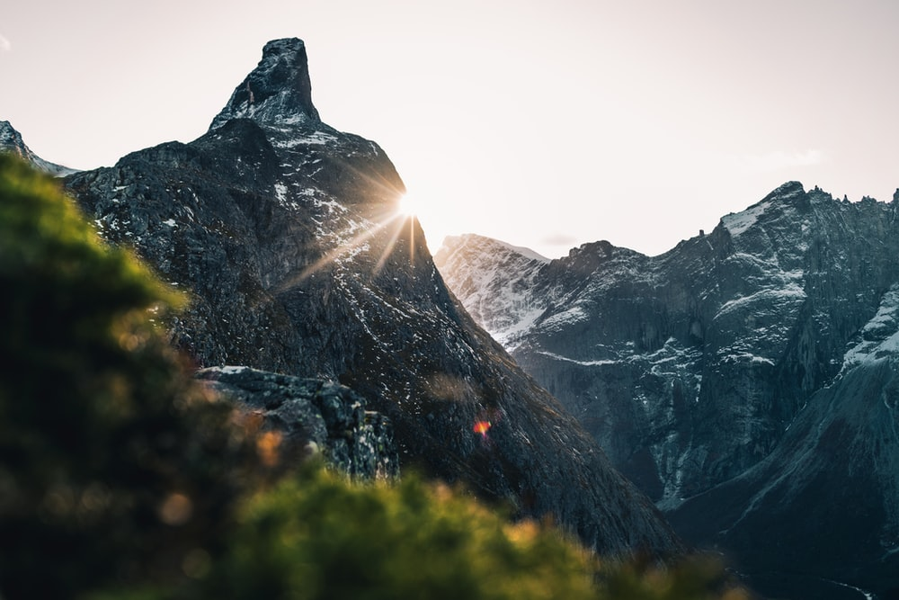 low-angle photography of mountain alps during daytime
