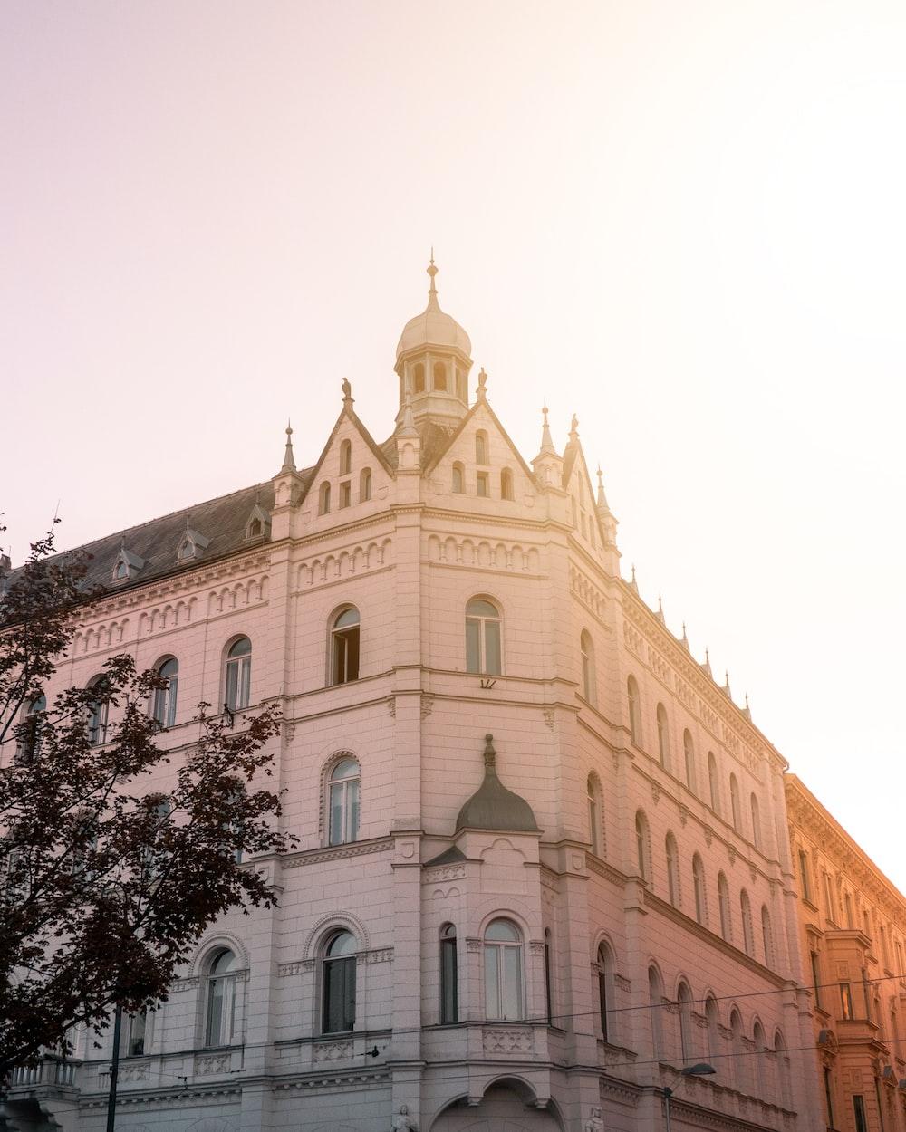 palace under white sky