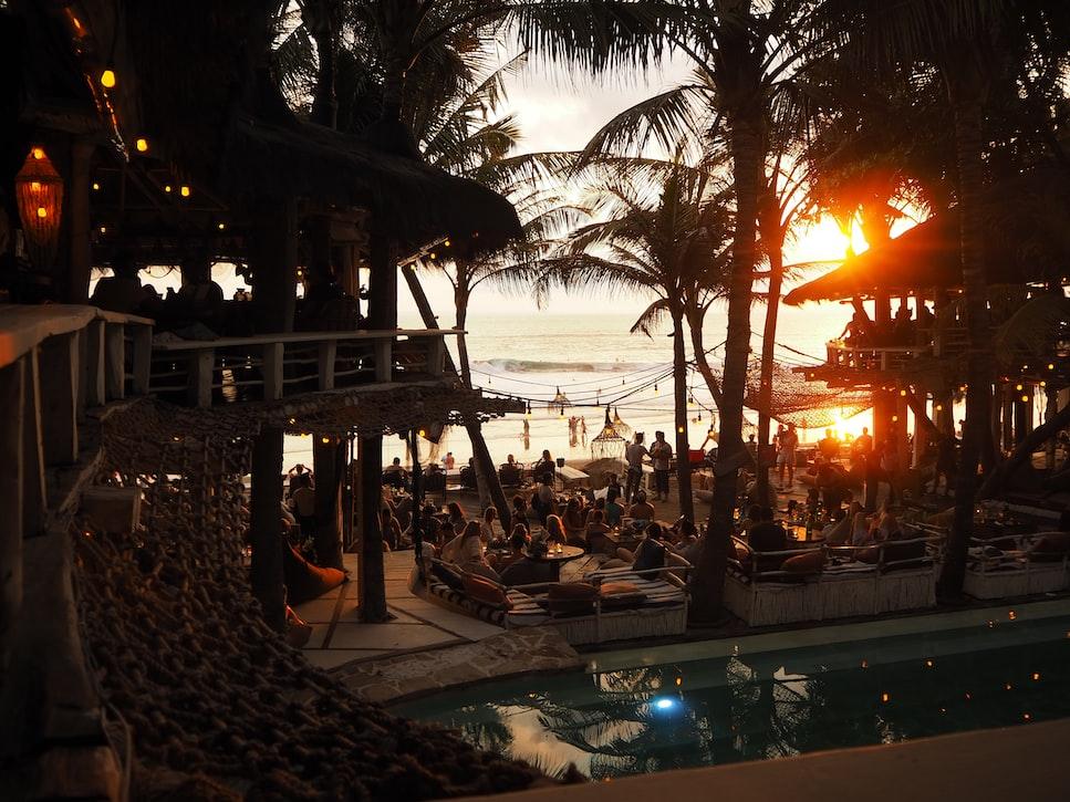 Sunset at the La Brisa, Beach Club in Bali