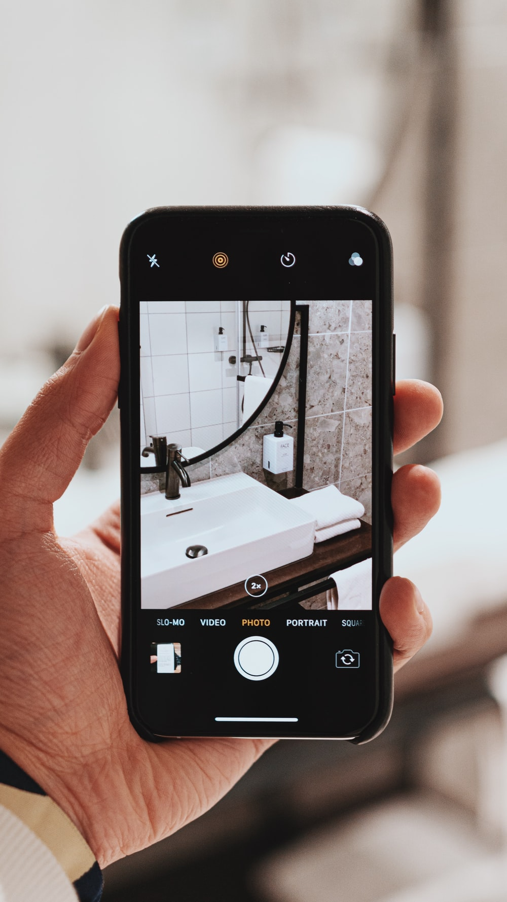 turned-on black Android smartphone