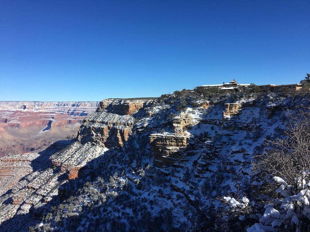 snowy canyon landscape