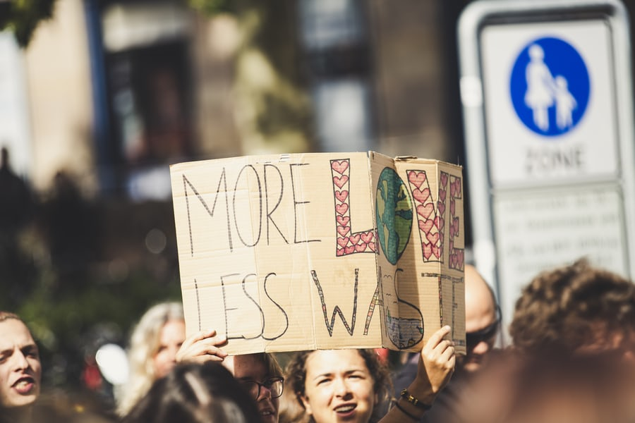 more love less waste protest