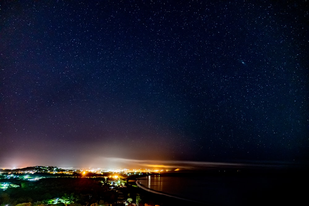 Beach Night Sky Pictures