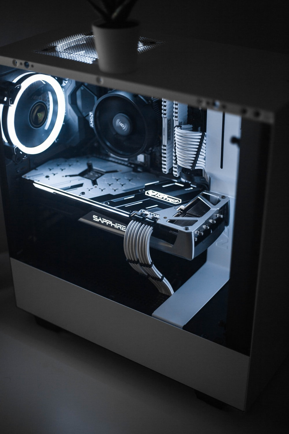 white Sapphire computer motherboard