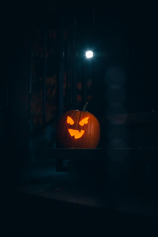 lighted pumpkin decor