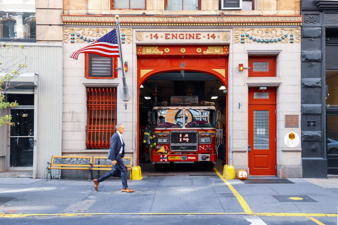 The 14th Engine  👩🚒  Took this photo in Manhattan was inspired by the movement and reflections of the 14 Engine.  This photo was taken as part of the #Unsplash awards street challenge.