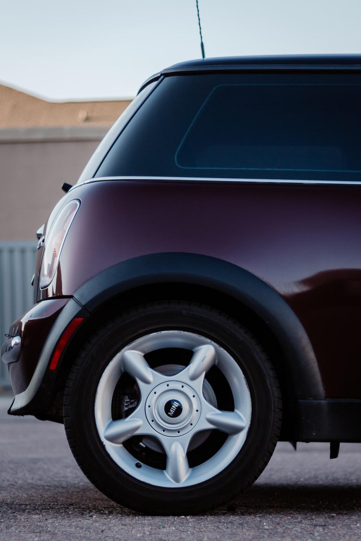 maroon hatchback