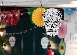 assorted hanging Halloween decors