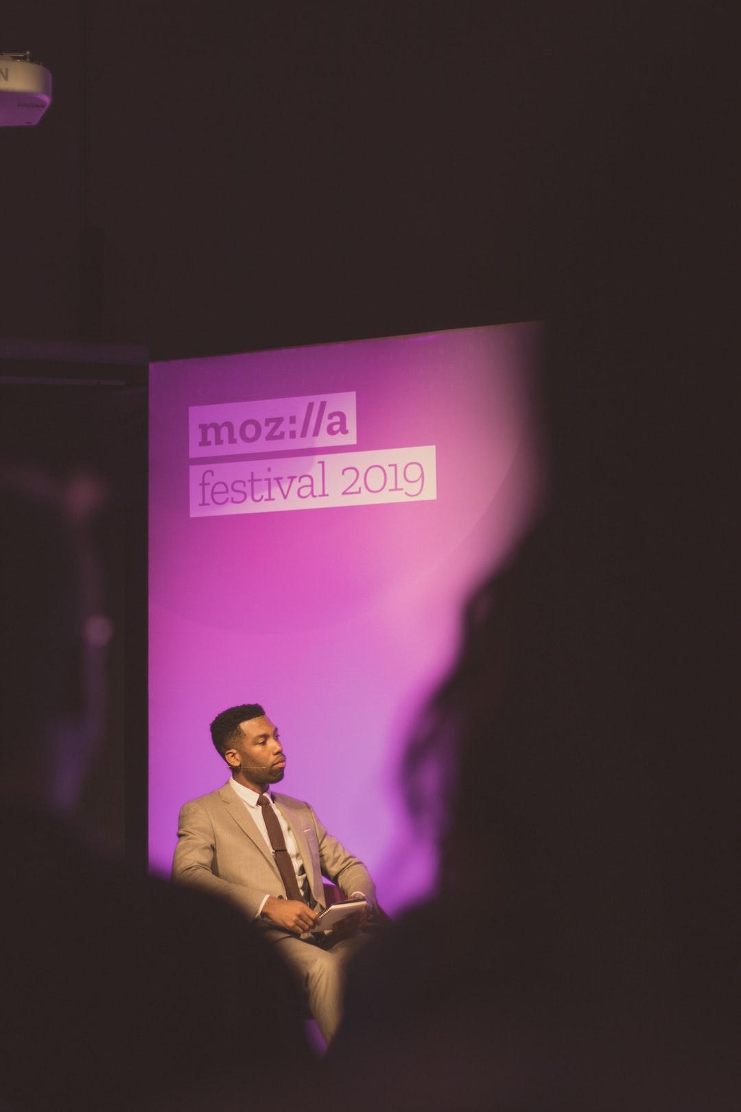 Panel moderator at Mozfest 2019.