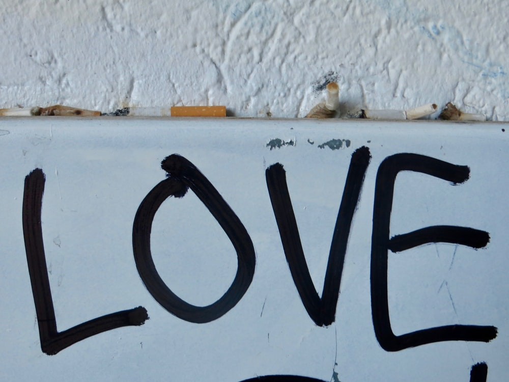 black love text