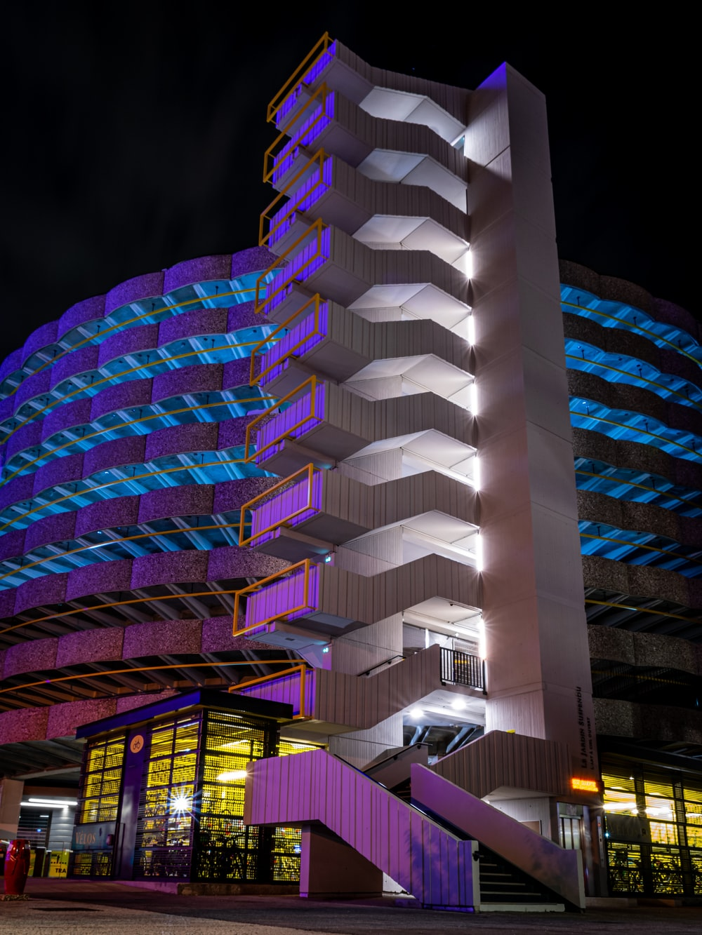building during night