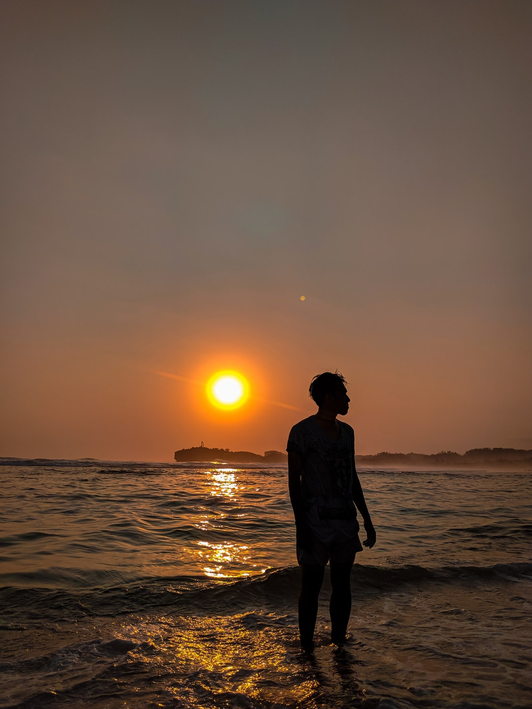 sunset portrait on sadranan beach